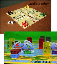 Bild mit zwei Brettspielen