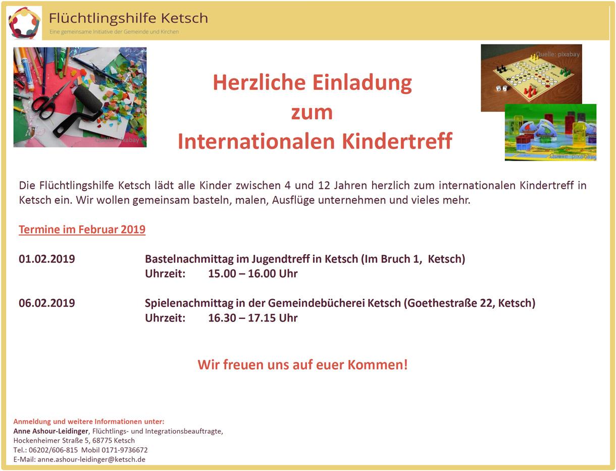 Bild mit der Einladung zum Internationalen Kindertreff am 7. und 12. Dezember 2018 (1220x932 Pixel)
