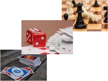 Bild mit verschiedenen Spielen