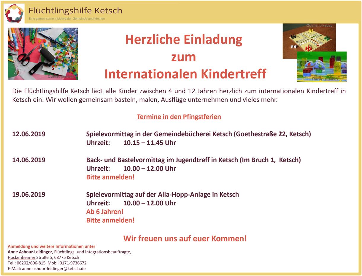 Herzliche Einladung zum Internationalen Kindertreff