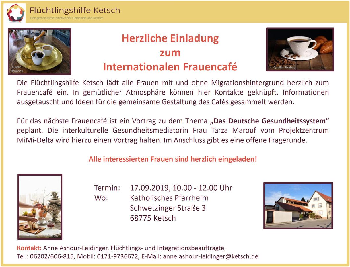 Bild mit der Einladung zum Internationalen Frauencafé